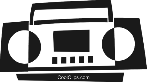 ghetto blaster Royalty Free Vector Clip Art illustration vc028256