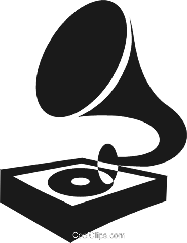 gramophone Royalty Free Vector Clip Art illustration vc028267