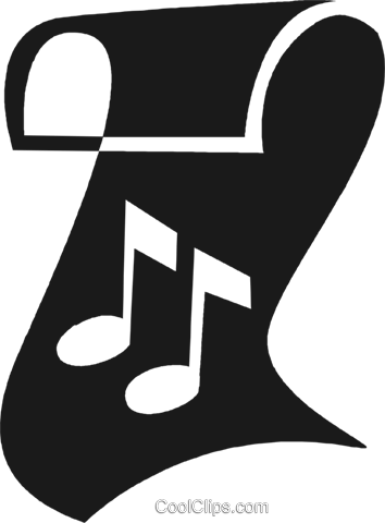 music note Royalty Free Vector Clip Art illustration vc028268