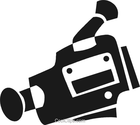 video camera Royalty Free Vector Clip Art illustration vc028272