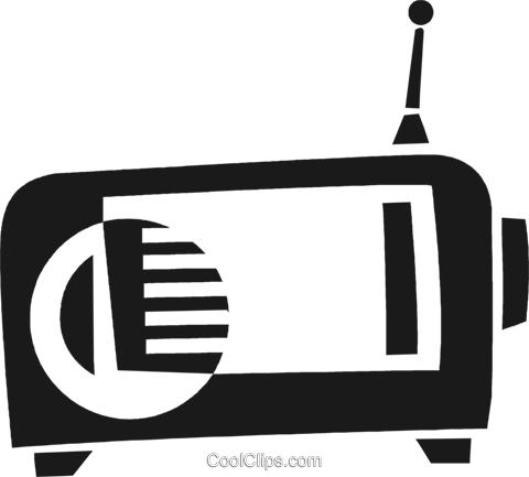 radio Royalty Free Vector Clip Art illustration vc028273