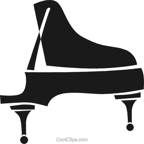 grand piano Royalty Free Vector Clip Art illustration vc028274
