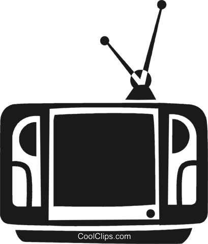 television set Royalty Free Vector Clip Art illustration vc028275
