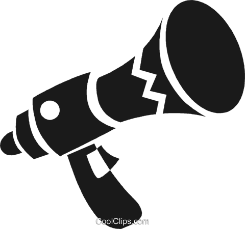 megaphone Royalty Free Vector Clip Art illustration vc028278