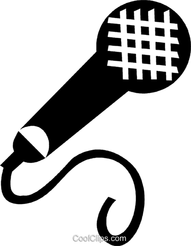 microphone Royalty Free Vector Clip Art illustration vc028283