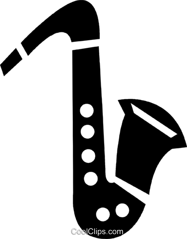 saxophone Royalty Free Vector Clip Art illustration vc028284