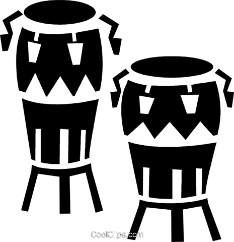 bongo drums Royalty Free Vector Clip Art illustration vc028295