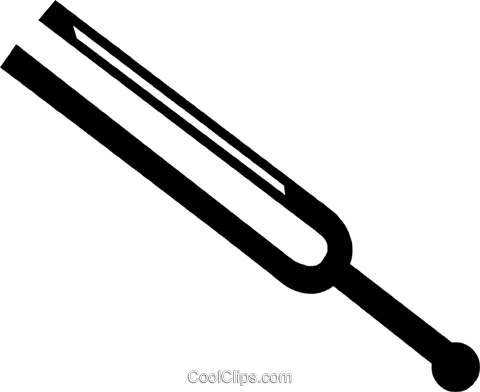 tuning fork Royalty Free Vector Clip Art illustration vc028301
