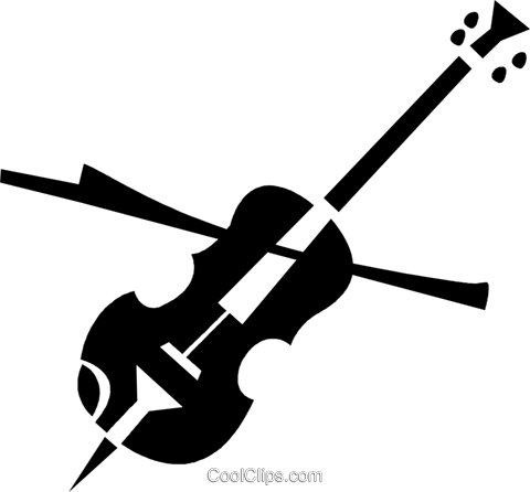 violin Royalty Free Vector Clip Art illustration vc028320