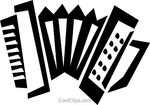 accordion Royalty Free Vector Clip Art illustration vc028332