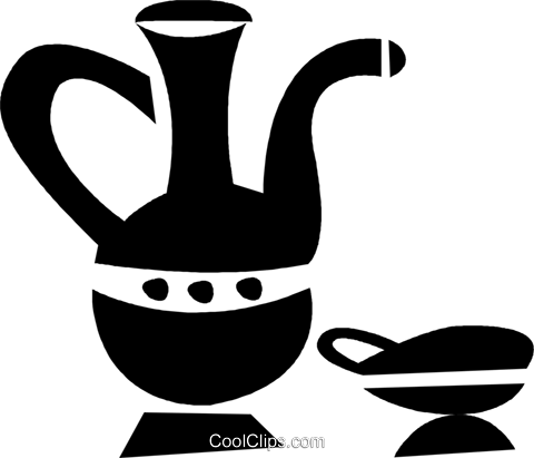 water pitcher Royalty Free Vector Clip Art illustration vc028353