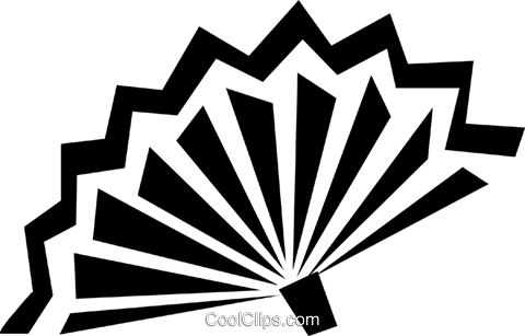 Japanese hand fans Royalty Free Vector Clip Art illustration vc028364