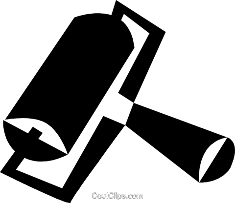 printer roller Royalty Free Vector Clip Art illustration vc028368
