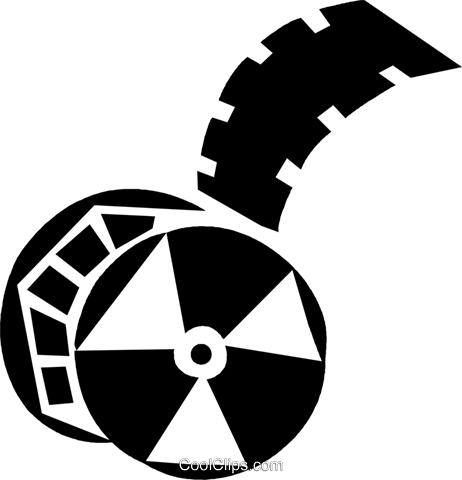 film reel Royalty Free Vector Clip Art illustration vc028382