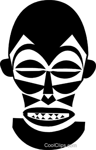 African masks Royalty Free Vector Clip Art illustration vc028389