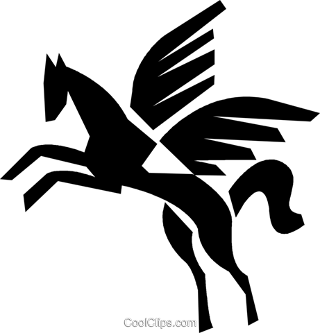 Pegasus Royalty Free Vector Clip Art illustration vc028394