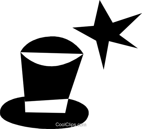 magicians hat Royalty Free Vector Clip Art illustration vc028405