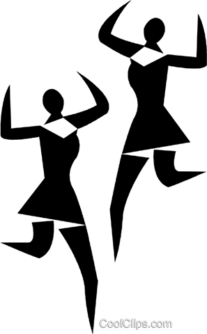 dancers Royalty Free Vector Clip Art illustration vc028413