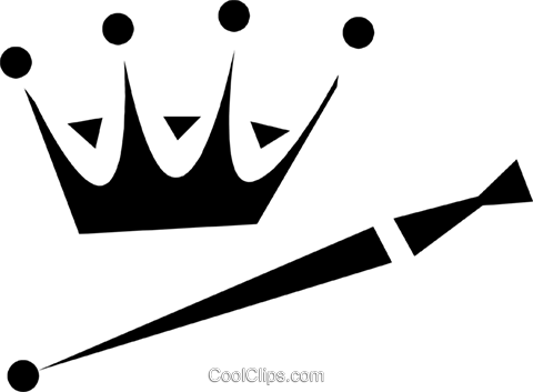 crown and scepter Royalty Free Vector Clip Art illustration vc028420