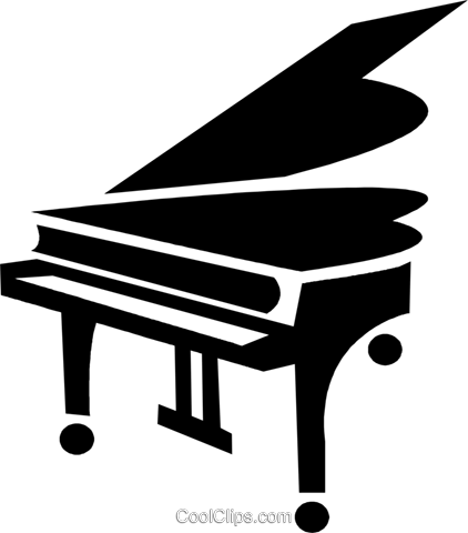 grand piano Royalty Free Vector Clip Art illustration vc028424