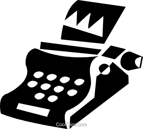 typewriter Royalty Free Vector Clip Art illustration vc028425
