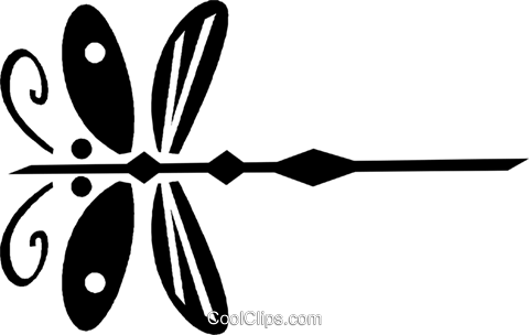 dragonflies Royalty Free Vector Clip Art illustration vc028458