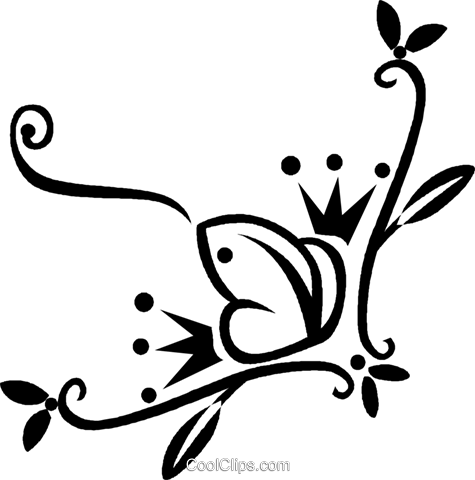 decorative floral elements Royalty Free Vector Clip Art illustration vc028477