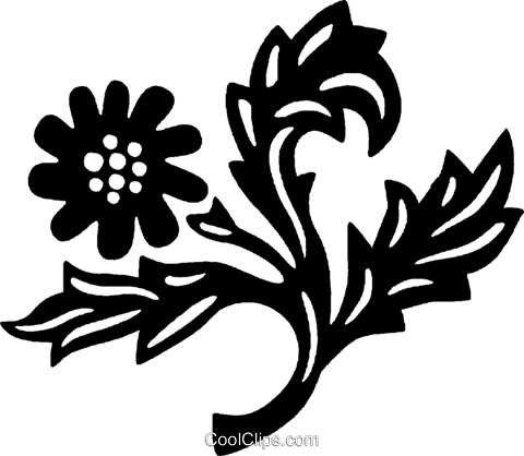 decorative floral elements Royalty Free Vector Clip Art illustration vc028480