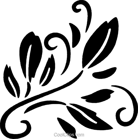 decorative floral elements Royalty Free Vector Clip Art illustration vc028493