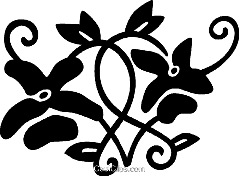 decorative floral elements Royalty Free Vector Clip Art illustration vc028500