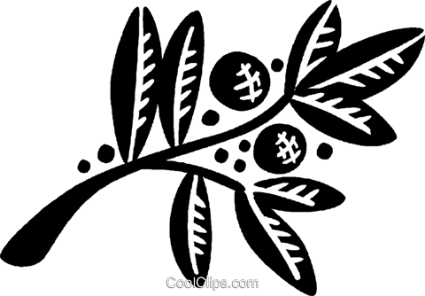 decorative floral elements Royalty Free Vector Clip Art illustration vc028505