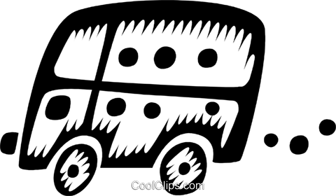 bus Royalty Free Vector Clip Art illustration vc028541