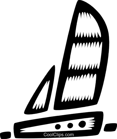 sailboat Royalty Free Vector Clip Art illustration vc028553