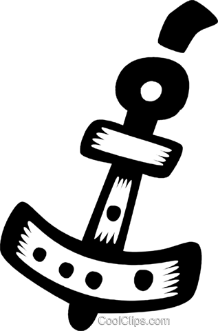 anchor Royalty Free Vector Clip Art illustration vc028556