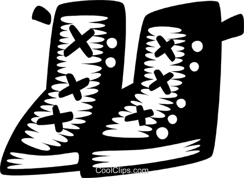 work boots Royalty Free Vector Clip Art illustration vc028570