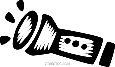 flashlight Royalty Free Vector Clip Art illustration vc028571