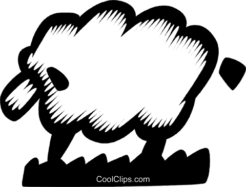 sheep Royalty Free Vector Clip Art illustration vc028626