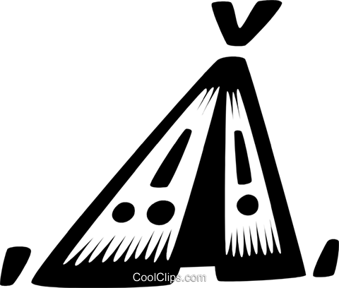 Indian teepee Royalty Free Vector Clip Art illustration vc028669