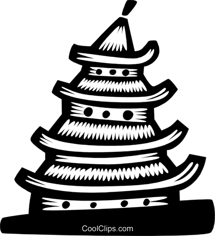 Japanese temple Royalty Free Vector Clip Art illustration vc028719