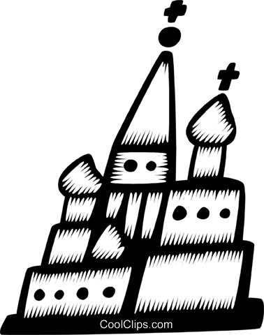 church Royalty Free Vector Clip Art illustration vc028727