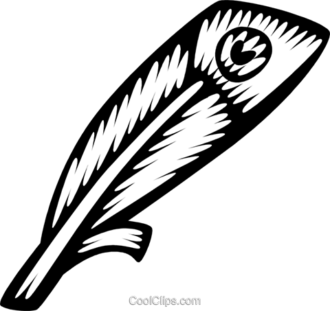bird feathers Royalty Free Vector Clip Art illustration vc028760