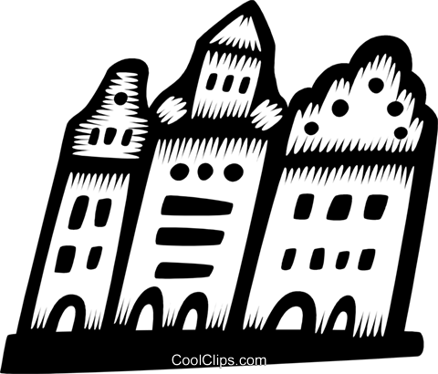 Cityscape Royalty Free Vector Clip Art illustration vc028785