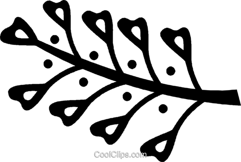 leaves Royalty Free Vector Clip Art illustration vc028798