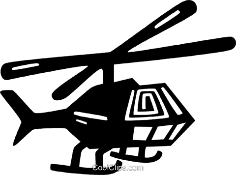 helicopter Royalty Free Vector Clip Art illustration vc028837