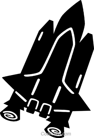 space shuttle Royalty Free Vector Clip Art illustration vc028838