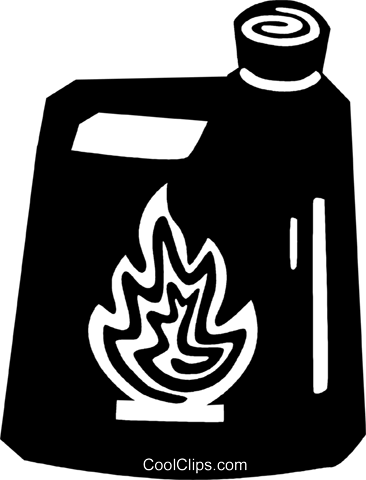 flammable liquid Royalty Free Vector Clip Art illustration vc028852