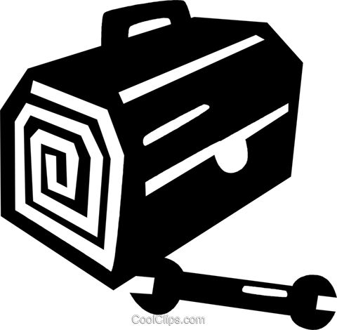 toolbox Royalty Free Vector Clip Art illustration vc028860