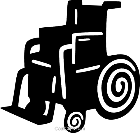 wheelchair Royalty Free Vector Clip Art illustration vc028863