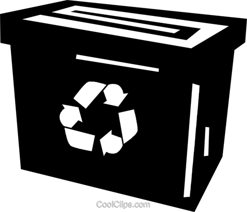 recycle box Royalty Free Vector Clip Art illustration vc028892