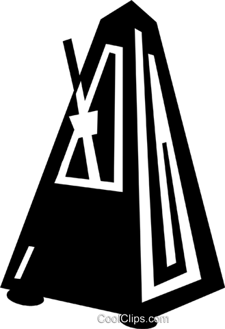 metronome Royalty Free Vector Clip Art illustration vc028896